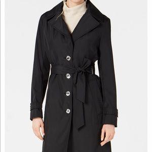 Calvin Klein Hooded Water-Resistant Trench Coat -S